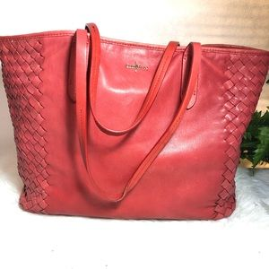Cole HAAN Fuchsia pink soft leather purse